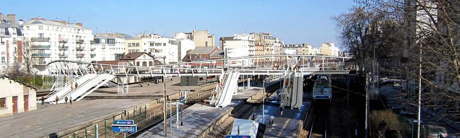 La gare Bécon les Bruyères
